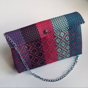 Handbags - Mexican woven purse with chain